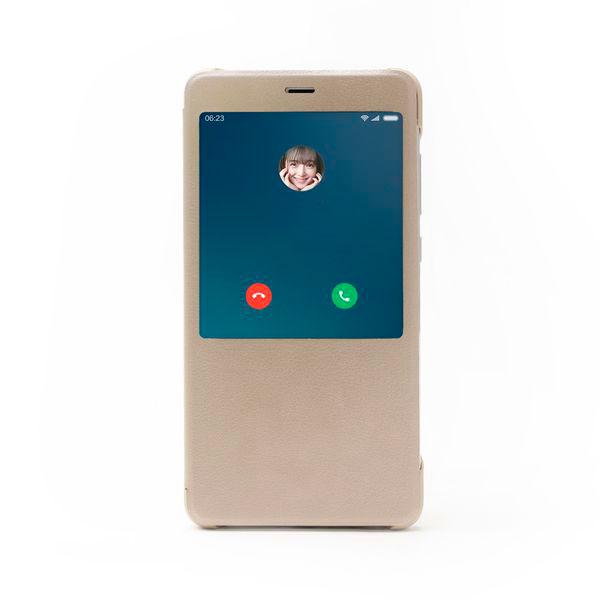 Купить Чехол для Redmi Note 4 книжкой Xiaomi (Золотой)